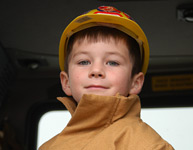 Photo Boy as a Fireman