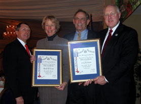 Photo of Bill Griffin, Pam Mount, Gary Mount, and Secretary Kuperus - Click to enlarge