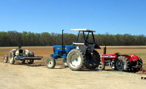 Photo of farm vehicles