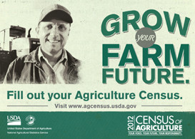 2012 Census of Agriculture Advertisement - Click to enlarge
