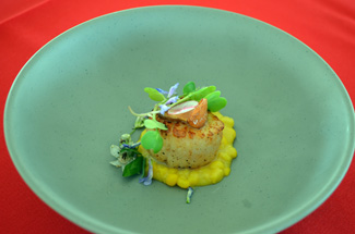 Photo of the 2015 Jersey Seafood Challenge winning dish