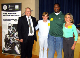 Photo of Ed McManus, Brielle Schools Business Administrator; Karen Crosson, NJDA; Adrien Clarke; and Jill Niglio, NJDA