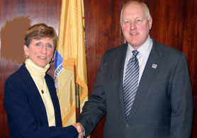 Photo of Emma Davis-Kovacs and Secretary Kuperus - Click to enlarge