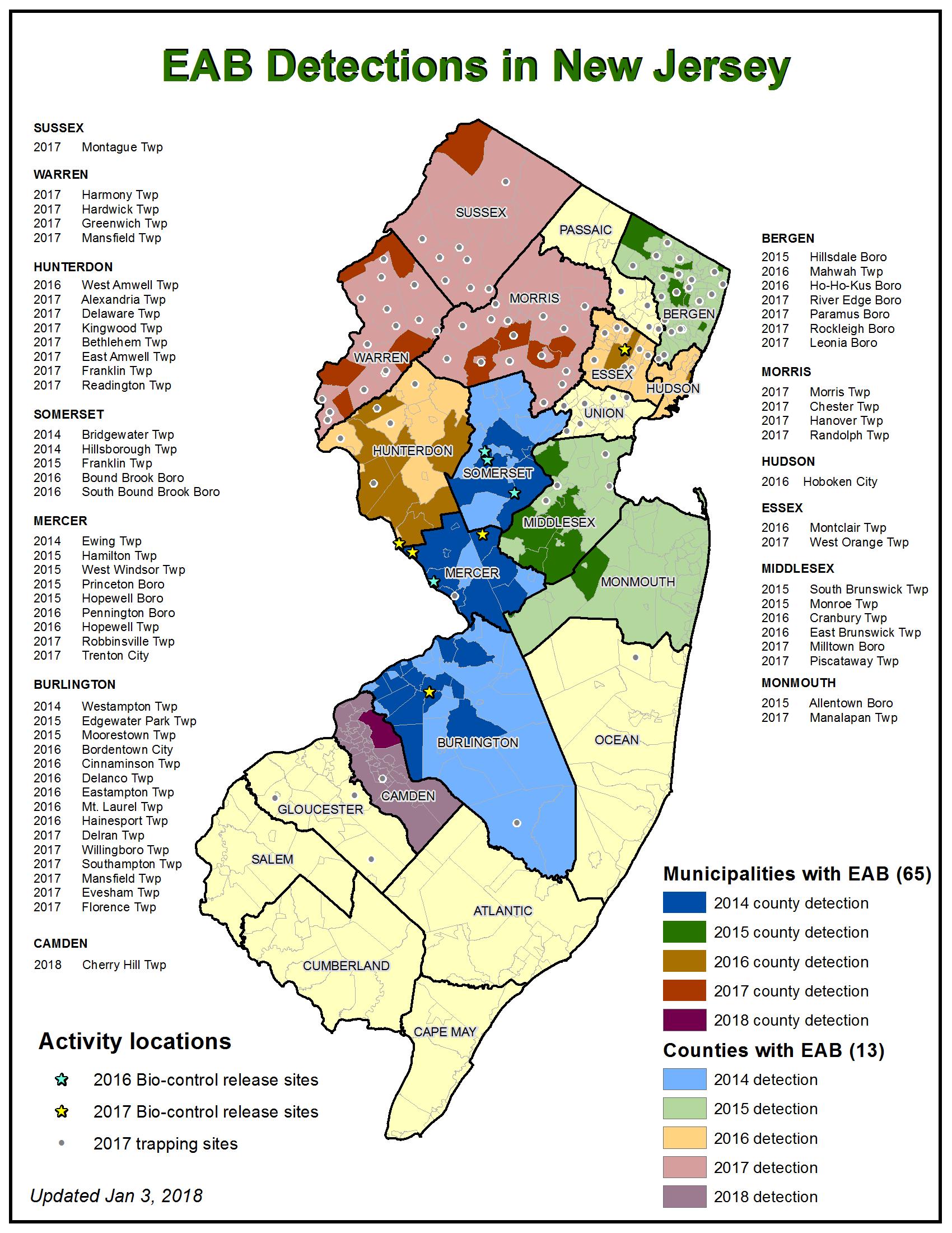 Department Of Agriculture Emerald Ash Borer - Emerald ash borer map