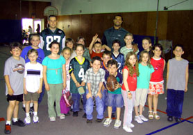 Photo of Stacy Tutt with Jared Fudurich's 3rd Grade Class