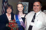2006 Equestrian of the Year Kelsey Hockenberger with her parents, Donna and Roik - Click to enlarge
