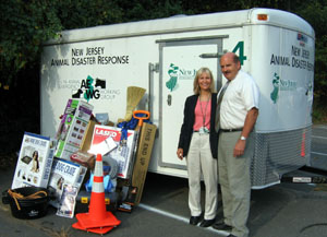 Photo of Holly Chmil, NJDA Emergency Management Coordinator, and Ken Mandoli
