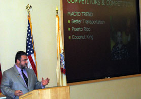 Photo of Jim Prevor at Rutgers Entrepreneurial Seminar - Click to enlarge