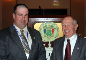 Photo of Rich Norz and Roger Kumpel State Brd of Ag President - Click to enlarge