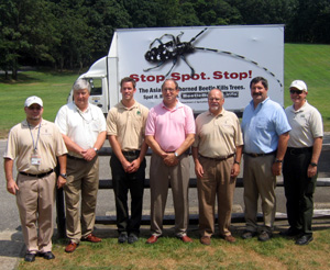 Photo of state and federal officials at ALB Awareness Event