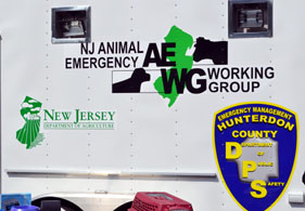 Photo of an animal rescue trailer - Click to enlarge