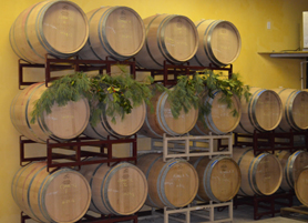 Photo of wine barrels at Auburn Road Vineyards - Click to enlarge