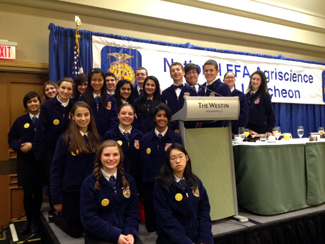 1b0b4ca52bdc Photo of the Biotechnology High School FFA Agriscience Fair participants