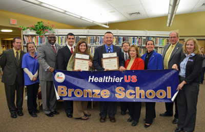 Photo of Bordentown School District accepting the HUSSC Award