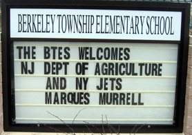 Photo of Berekeley Twp Elementary School sign - Click to enlarge