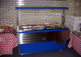 Photo of the new cold food bar at Jersey City School # 6 - Click to enlarge