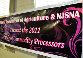 Photo of the Commodity Food Show Sign - Click to enlarge