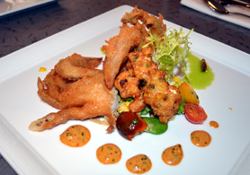 Photo of beer-battered soft shell crab - Click to enlarge