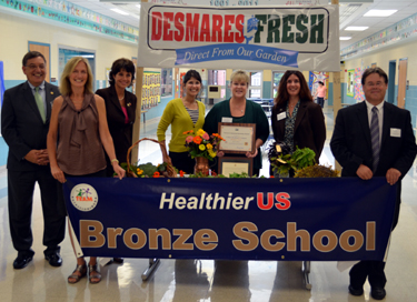 Photo of Healthier US School Challenge Award recipients