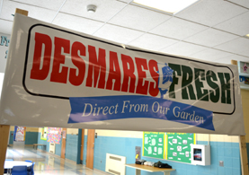 Photo of a sign at Franicis Desmares School - Click to enlarge