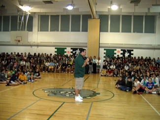 Photo of the Jets Mike Devito at Brookside School