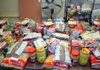 Photo of donated food at a food pantry