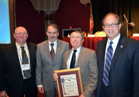 Photo of State Board President Henry DuBois, VP James Giamarese, Bill Griffin and Secretary Fisher - Click to enlarge