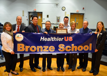 Photo of Bartle School officials accepting HUSSC Award