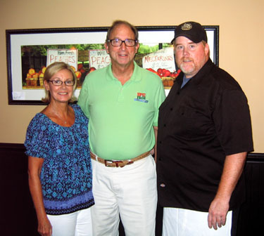 Photo of Doug and Bonnie Fisher and Chef Jim Malaby
