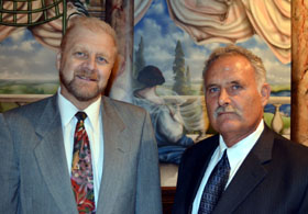 Photo of David Klemm and Santo John Maccherone - Click to enlarge