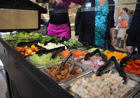 Photo of the Elizabeth Haddon School Salad Bar - Click to enlarge