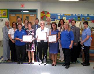 Photo of Manchester Township School officials at awards ceremony