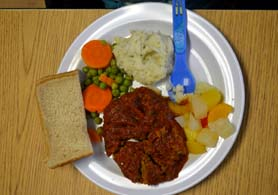 Photo of the CACFP meal at Monmouth Day Care Center - Click to enlarge