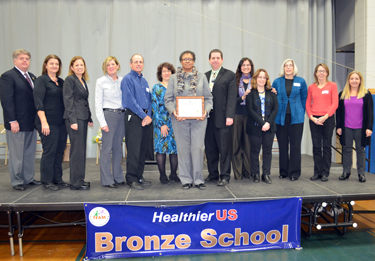 Photo of Metuchen officials accepting the award