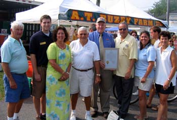 Photo of Herb Adams, Brandon Schmidt, Joanne Delvescio, Carl Scheetz, Secretary Kuperus, Council President Hartzell, Shawda Conser and Helen Clark