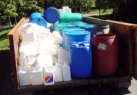 Photo of recyclable pesticide containers - Click to enlarge
