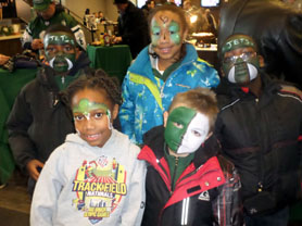 Photo of Roosevelt School kids with NY Jets face painting - Click to enlarge