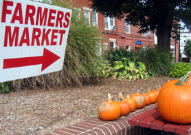 Photo of Rutherford Farmers Market in the Fall - Click to enlarge