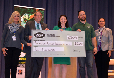 Photo of Samsel check presentation