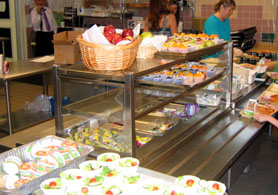 Photo of school lunch line - Click to enlarge