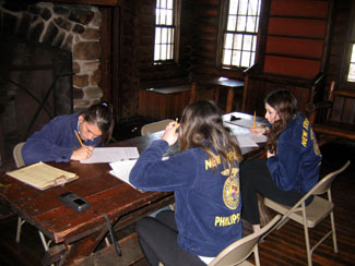 Photo of FFA members participating in the Press Release-writing event.