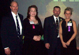 Photo of 2005 National and NJ OYF Jeff Vander Groef and wife Tracy, Will Sytsema and wife Holly - Click to enlarge