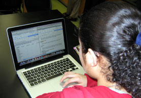Photo of a student getting a CASE lesson - Click to enlarge