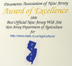 Photo of Best State Web Site Award - Click to enlarge