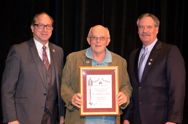 Photo of Secretary Fisher, Wes Kline and Robert Swanekamp, State BOA President