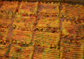 Photo of whole grain lasagna rolettes - Click to enlarge