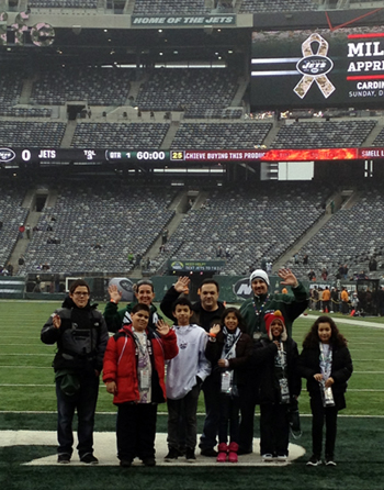 Photo of WNY PS #4 at the December 2, 2012 Jets game