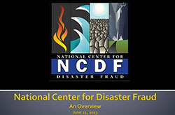 National Center For Disaster Fraud