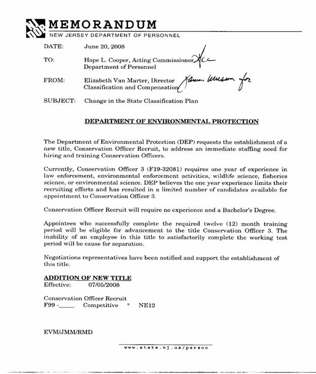 Civil Service Commission | Meeting Minutes of July 16, 2008