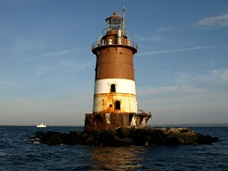 Romer Shoal lighthouse suffered damage from Sandy